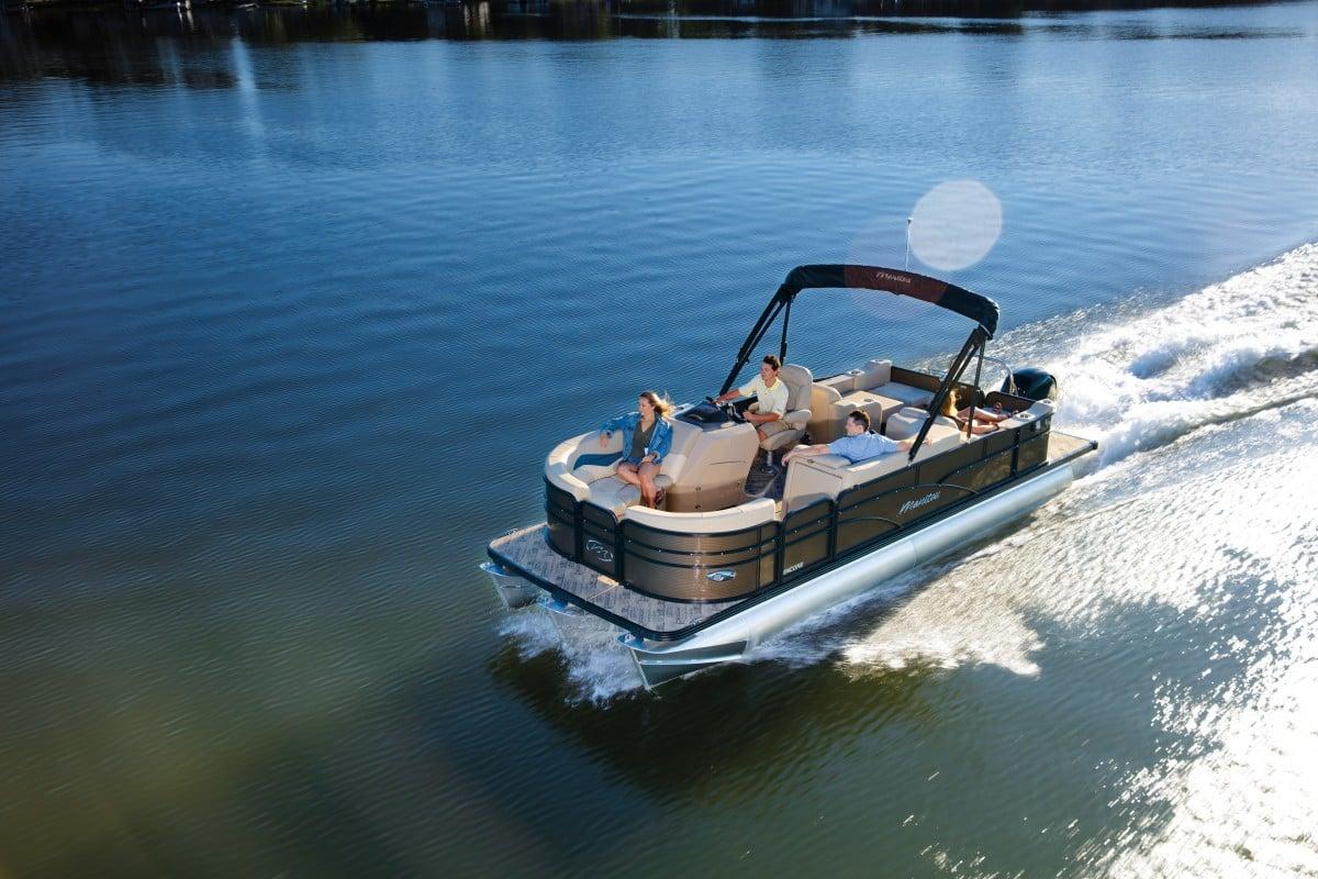 Manitou Pontoon Boat | Gun Lake Marina & Boat Rentals