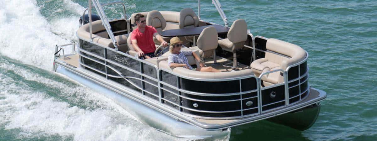South Bay Pontoon Boat 50HP | Gun Lake Marina & Boat Rentals