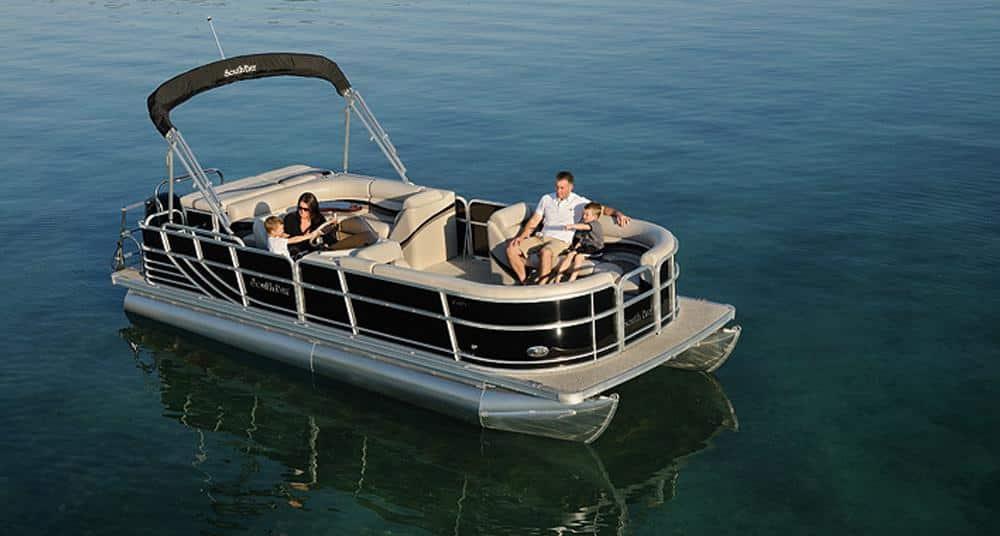 South Bay Pontoon Boat 60HP | Gun Lake Marina & Boat Rentals
