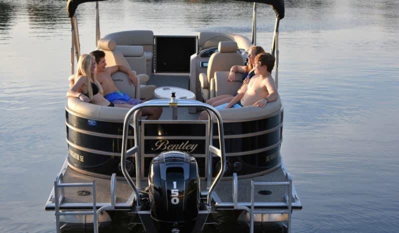 bentley pontoon boat rental 24 foot 90 hp | Gun Lake Marina & Boat Rentals